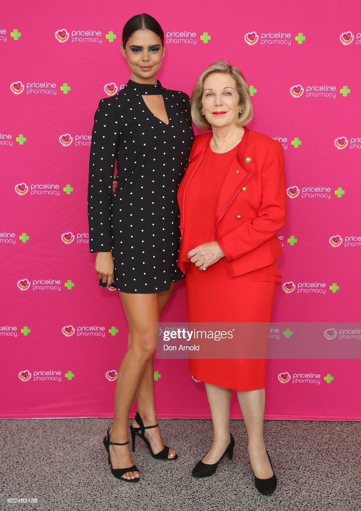 Samantha Harris and Ita Buttrose arrive ahead of Priceline Pharmacy's 'The Beauty Prescription' live event at Royal Randwick Racecourse on February 22, 2018 in Sydney, Australia.