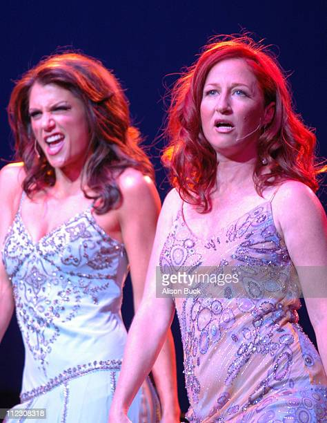 Samantha Harris and Vicki Lewis during What a Pair 4 Show at Wiltern/LG Theatre in Los Angeles CA United States