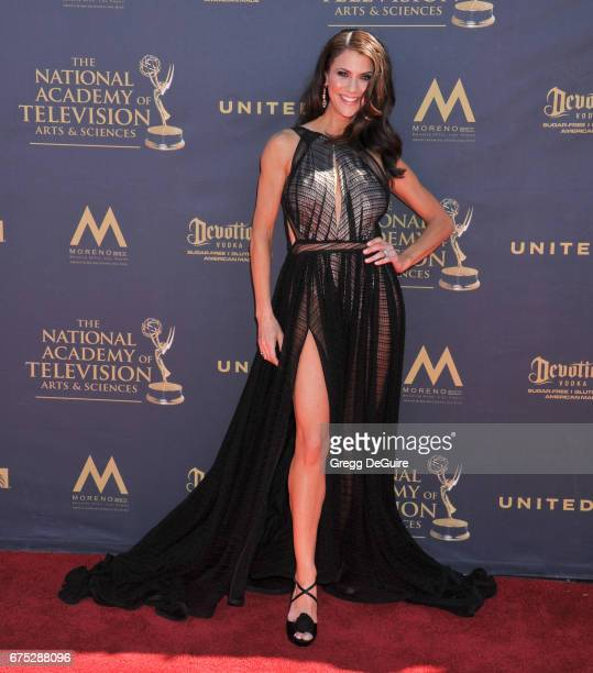 Samantha Harris arrives at the 44th Annual Daytime Emmy Awards at Pasadena Civic Auditorium on April 30 2017 in Pasadena California