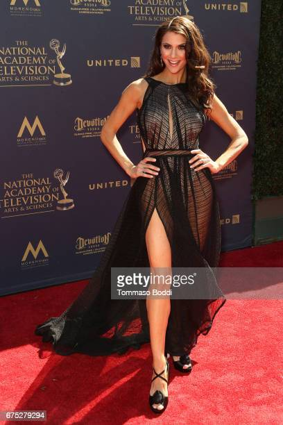 Samantha Harris attends the 44th Annual Daytime Emmy Awards at Pasadena Civic Auditorium on April 30 2017 in Pasadena California