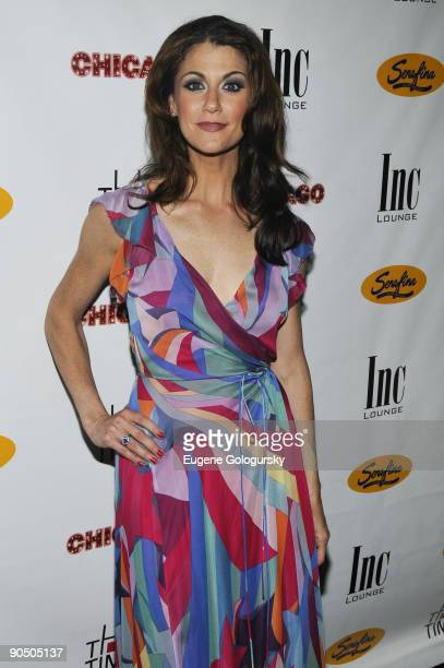 """Samantha Harris attends the after party for Samantha Harris' debut as Roxie Hart in """"Chicago"""" on Broadway at Inc. Lounge on July 7, 2009 in New York..."""
