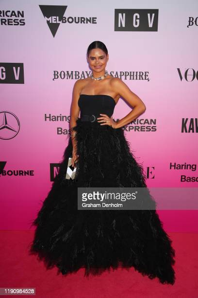 Samantha Harris attends the NGV Gala 2019 at the National Gallery of Victoria on November 30 2019 in Melbourne Australia
