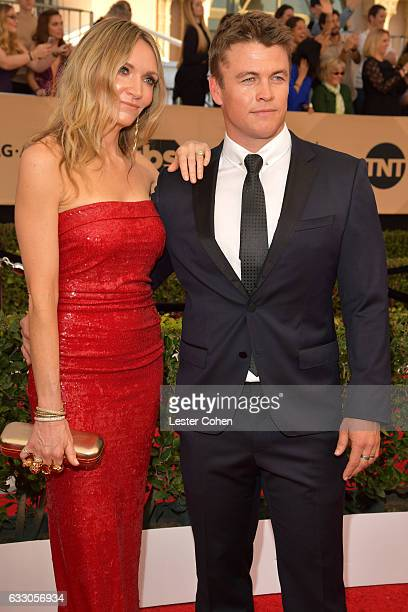 Samantha Hemsworth and actor Luke Hemsworth attend the 23rd Annual Screen Actors Guild Awards at The Shrine Expo Hall on January 29, 2017 in Los...