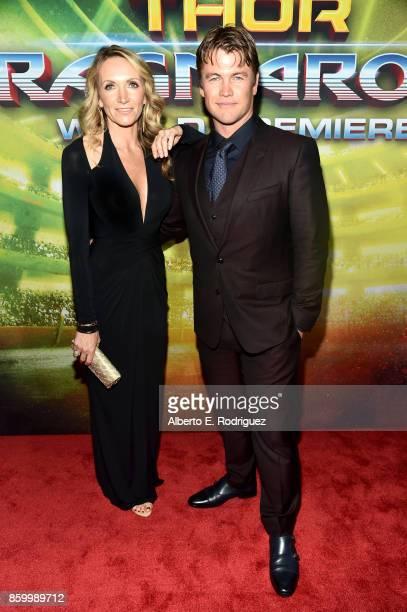 Samantha Hemsworth and Luke Hemsworth at The World Premiere of Marvel Studios' Thor Ragnarok at the El Capitan Theatre on October 10 2017 in...