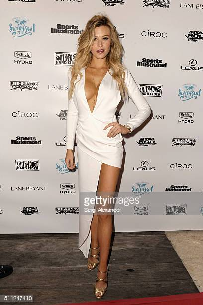 Samantha Hoopes attends A Night at Sea VIP Boat Cruise sponsored by Sports Illustrated Swimsuit 2016 Yacht Cruise on February 18 2016 in Miami Florida