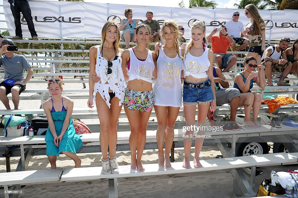 Emily DiDonato and Hannah Ferguson attend Sports