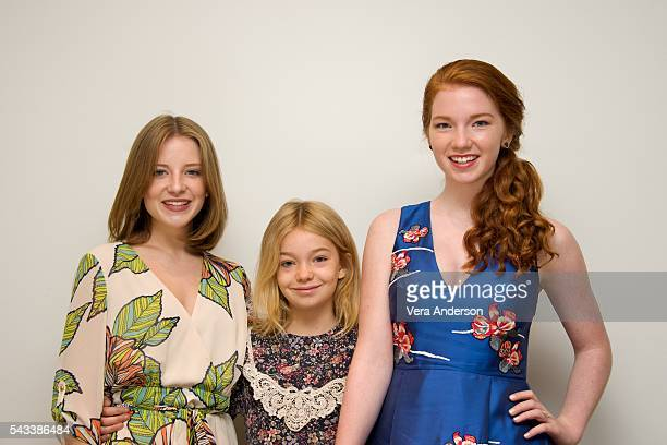 Samantha Isler Shree Crooks and Annalise Basso at the 'Captain Fantastic' Press Conference at the Four Seasons Hotel on June 27 2016 in Beverly Hills...