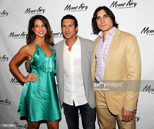 Samantha Ivers William DeMeo and Claudio Pesce attends Goat The Movie sneak peek at Mount Airy Casino Resort on August 25 2012 in Mount Pocono...