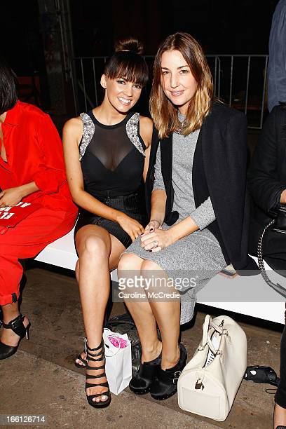 Samantha Jade and Jules Egan attend the Manning Cartell show during MercedesBenz Fashion Week Australia Spring/Summer 2013/14 at The Shed...