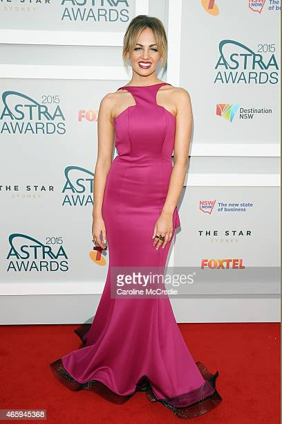 Samantha Jade arrives at the 2015 ASTRA Awards at the Star on March 12 2015 in Sydney Australia
