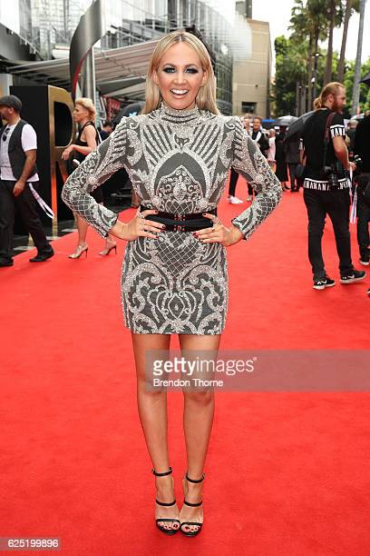 Samantha Jade arrives for the 30th Annual ARIA Awards 2016 at The Star on November 23 2016 in Sydney Australia