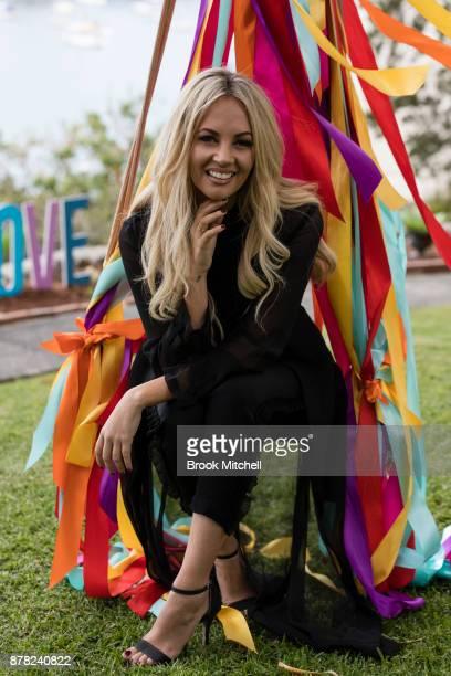 Samantha Jade attends the Swarovski Rainbow Paradise Spring Summer 18 Collection Launch on November 24 2017 in Sydney Australia