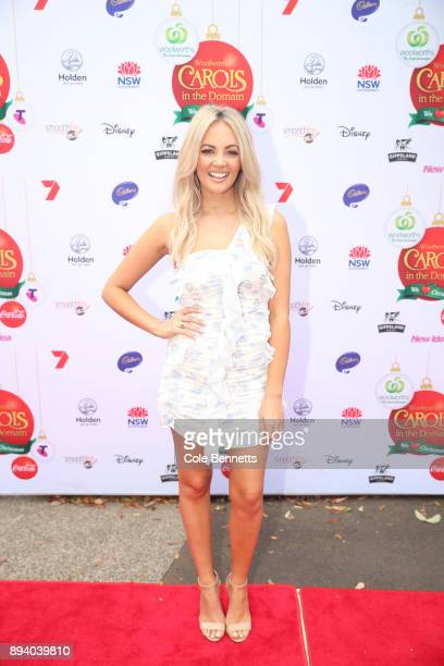 Samantha Jade during Woolworths Carols in the Domain on December 17 2017 in Sydney Australia Woolworths Carols in the Domain is Australia's largest...