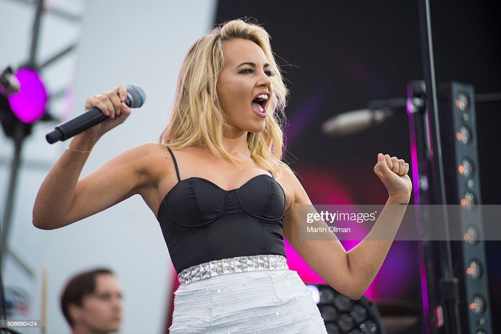 Samantha Jade performs during the Australian of The Year Awards 2016 at Parliament House on January 25, 2016 in Canberra, Australia.
