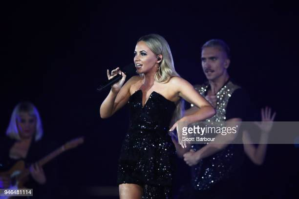 Samantha Jade performs during the Closing Ceremony for the Gold Coast 2018 Commonwealth Games at Carrara Stadium on April 15 2018 on the Gold Coast...