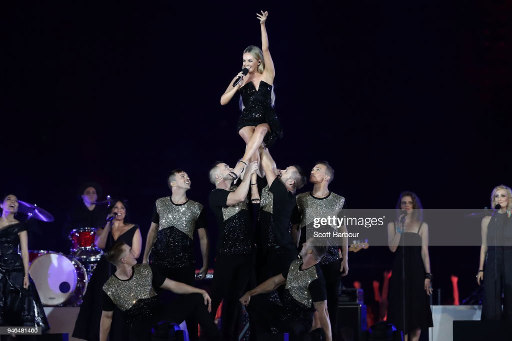 Samantha Jade performs during the Closing Ceremony for the Gold Coast 2018 Commonwealth Games at Carrara Stadium on April 15, 2018 on the Gold Coast, Australia.