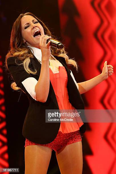 Samantha Jade performs during the Nickelodeon Slimefest 2013 matinee show at Sydney Olympic Park Sports Centre on September 27, 2013 in Sydney,...