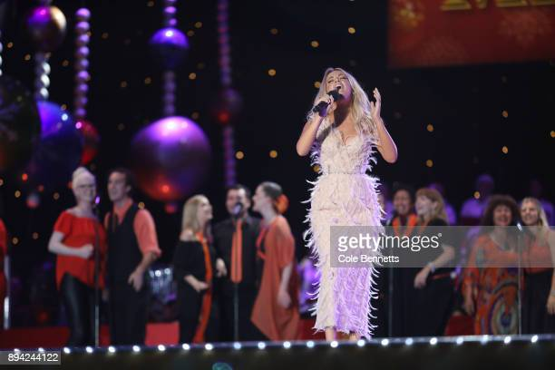 Samantha Jade performs during Woolworths Carols in the Domain on December 17 2017 in Sydney Australia Woolworths Carols in the Domain is Australia's...