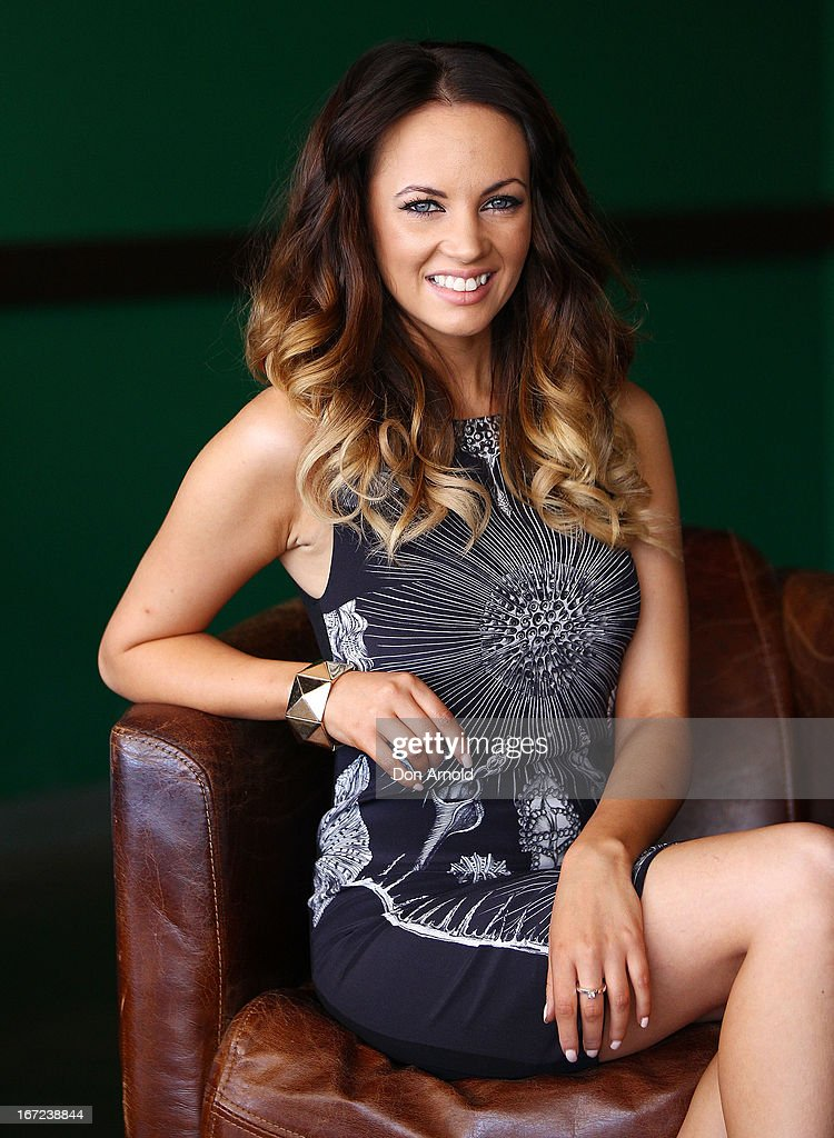 Samantha Jade poses during the COSMO 40 Years Celebration Lunch at Otto Ristorante on April 23, 2013 in Sydney, Australia.