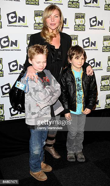 Samantha Janus and children attend the Ben 10 Alien Force VIP Premiere at Old Billingsgate Market on February 15 2009 in London England