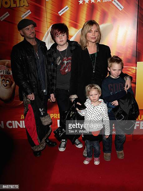 Samantha Janus and her family arrives for a VIP Screening of Disneys new movie Bolt at Cineworld Haymarket on 01 February 2009 in London England
