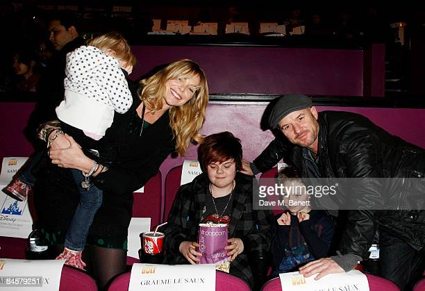 Samantha Janus and Mark Womack attend the VIP screening of 'Bolt' at the Cineworld Haymarket on February 1 2009 in London England
