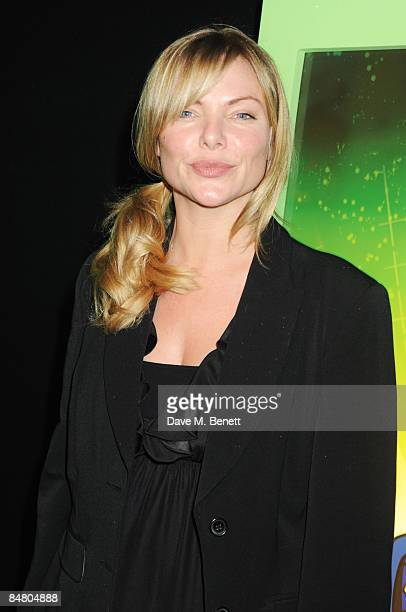 Samantha Janus arrives at the VIP premiere of 'Ben 10 Alien Force' at the Old Billingsgate Market on February 15 2009 in London England