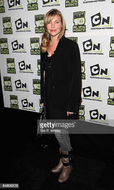 Samantha Janus arrives at the VIP Premiere of Ben 10 Alien Force at Old Billingsgate Market on February 15 2009 in London England