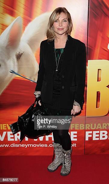 Samantha Janus arrives for a VIP Screening of Disneys new movie Bolt at Cineworld Haymarket on 01 February 2009 in London England