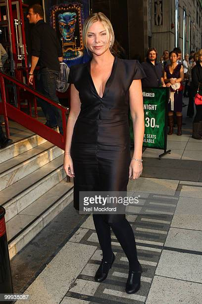 Samantha Janus attends a press night of 'Wicked' as Lee Mead joins the cast on May 18 2010 in London England