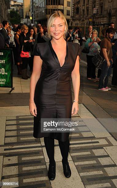 Samantha Janus attends press night as Lee Mead joins the cast of 'Wicked' on May 18 2010 in London England