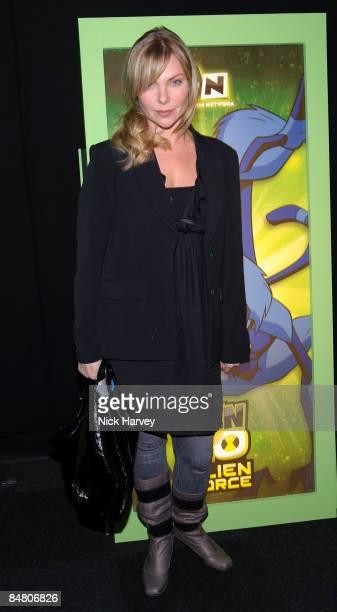 Samantha Janus attends the UK premiere of 'Ben 10 Alien Force' held at Old Billingsgate Market on February 15 2009 in London England