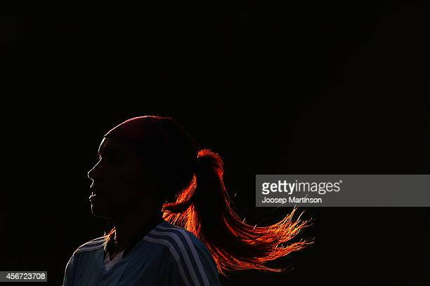 Samantha Johnson of Sydney FC looks on during the round four WLeague match between Sydney and Melbourne at Lambert Park on October 6 2014 in Sydney...