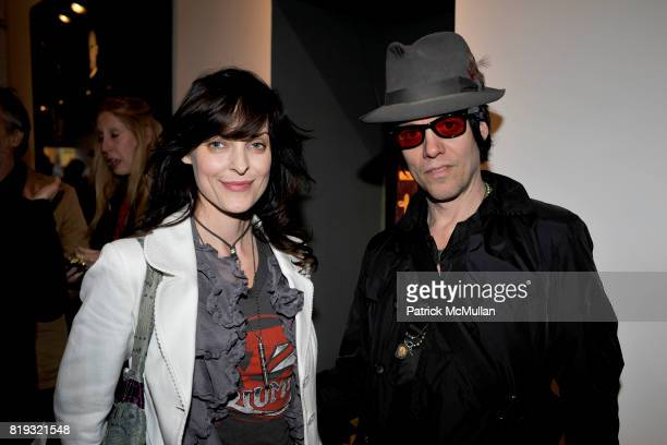 Samantha Keely Smith and Michael H attend IN DIALOGUE CURATED BY PETER MAKEBISH HOSTED BY ANONYMOUS GALLERY at Anonymous Gallery on April 14 2010 in...