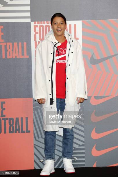 Samantha Kerr attends in celebration of the 20th anniversary of Nike's most iconic football boot some of the world's best footballers arrive in South...