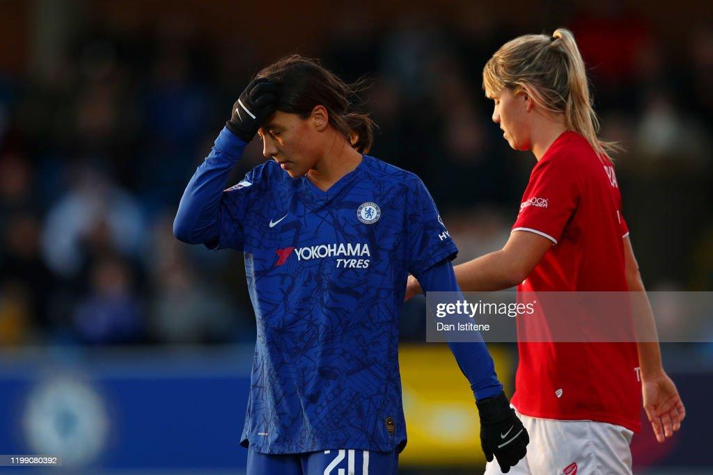 Chelsea v Bristol City - Barclays FA Women's Super League : Fotografia de notícias