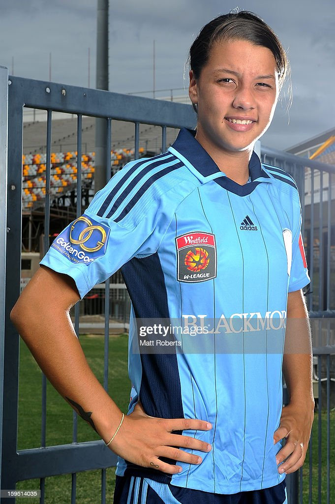 Samantha Kerr of Sydney FC poses during the W-League FFA finals series launch at Queensland Sport and Athletics Centre on January 15, 2013 in Brisbane, Australia.