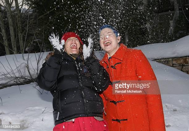 Samantha KurtzmanCounter and Lara Spotts during 2006 Sundance Film Festival 'One Sung Hero' Outdoor Portraits at Main St in Park City Utah United...