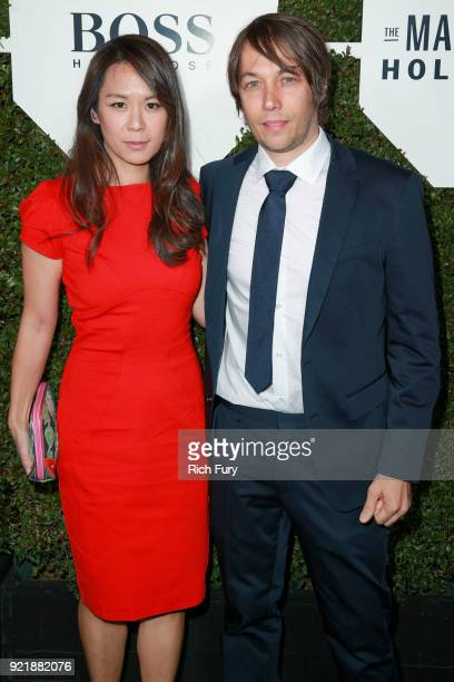Samantha Kwan and Sean Baker attend the Esquire's Annual Maverick's of Hollywood at Sunset Tower on February 20 2018 in Los Angeles California