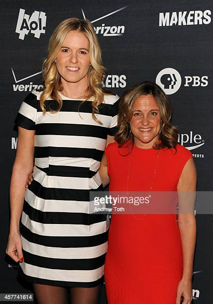 Samantha Leibovitz and Founder/Executive Producer of MAKERS Dyllan McGee attend the AOL Women In Business New York screening at New York Stock...
