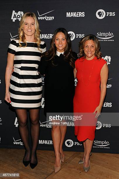 Samantha Leibovitz Senior VP and GM of Women's Content at AOL Maureen Sullivan and Founder/Executive Producer of MAKERS Dyllan McGee attend the AOL...