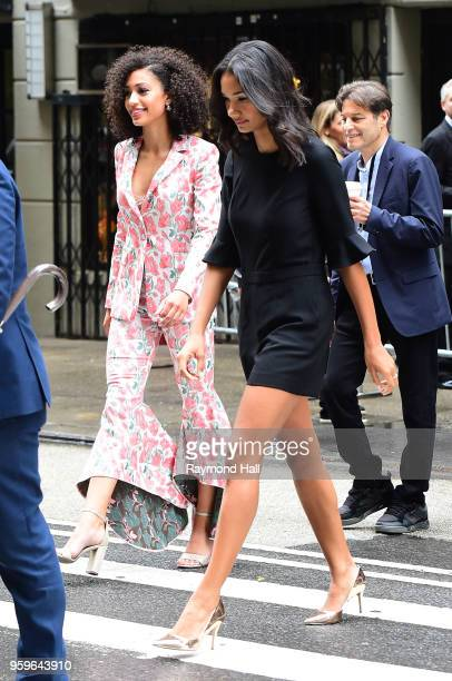 Samantha Logan is seen walking in midtown on May 17 2018 in New York City