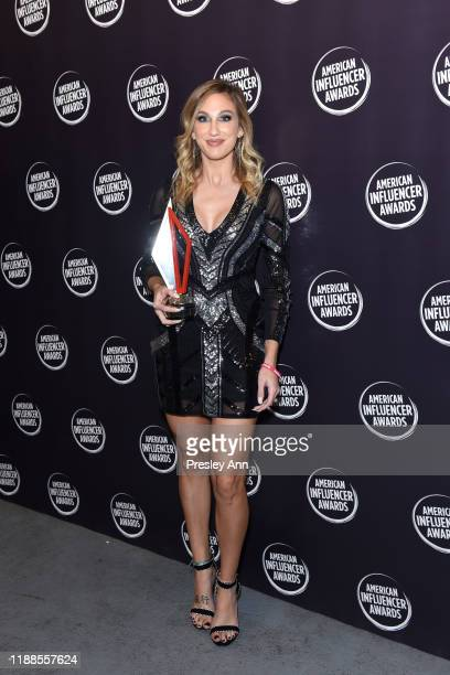Samantha March poses backstage during the 2nd Annual American Influencer Awards at Dolby Theatre on November 18 2019 in Hollywood California