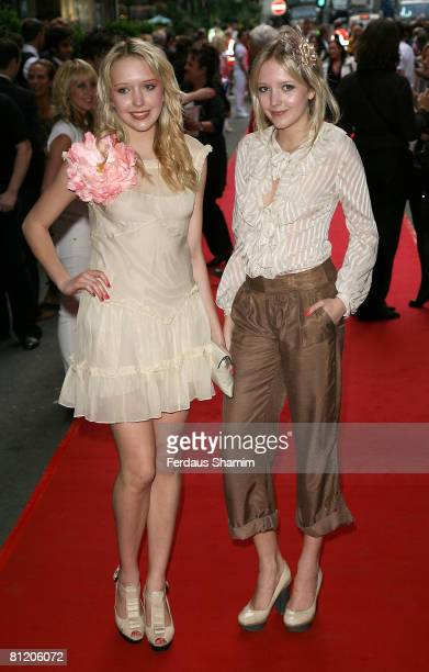 Samantha Marchant and Amanda Marchant arrive at Never Forget The Take That Musical Gala Opening at the Savoy Theatre on May 22 2008 in London England
