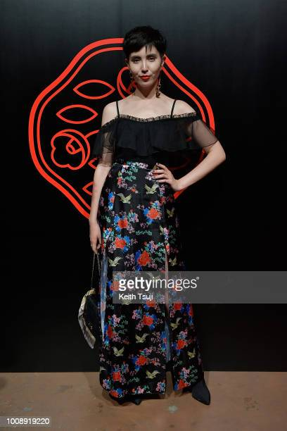 Samantha Mariko attends the Shiseido Makeup Tokyo Launch Event on August 1 2018 in Tokyo Japan