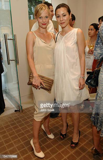 Samantha Mathis and China Chow during Martin Katz Hosts A Summer Soiree to Honor C Magazine's August Issue at Martin Katz Boutique in Beverly Hills...