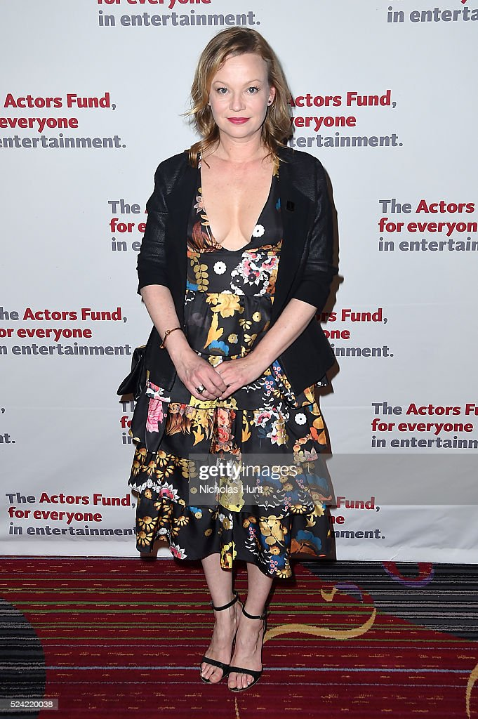 Samantha Mathis attends The Actors Fund 2016 Gala at Marriott Marquis Times Square on April 25, 2016 in New York City.
