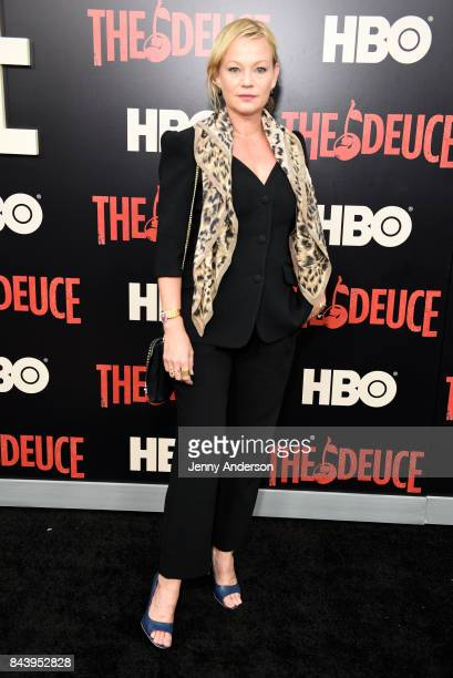 Samantha Mathis attends The Deuce New York Premiere at SVA Theater on September 7 2017 in New York City