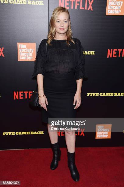 Samantha Mathis attends the Five Came Back world premiere at Alice Tully Hall at Lincoln Center on March 27 2017 in New York City