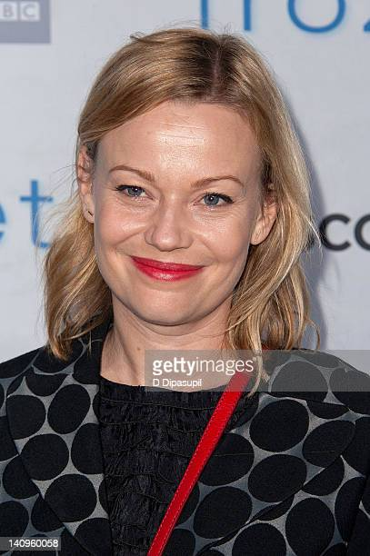 """Samantha Mathis attends the """"Frozen Planet"""" premiere at Alice Tully Hall, Lincoln Center on March 8, 2012 in New York City."""